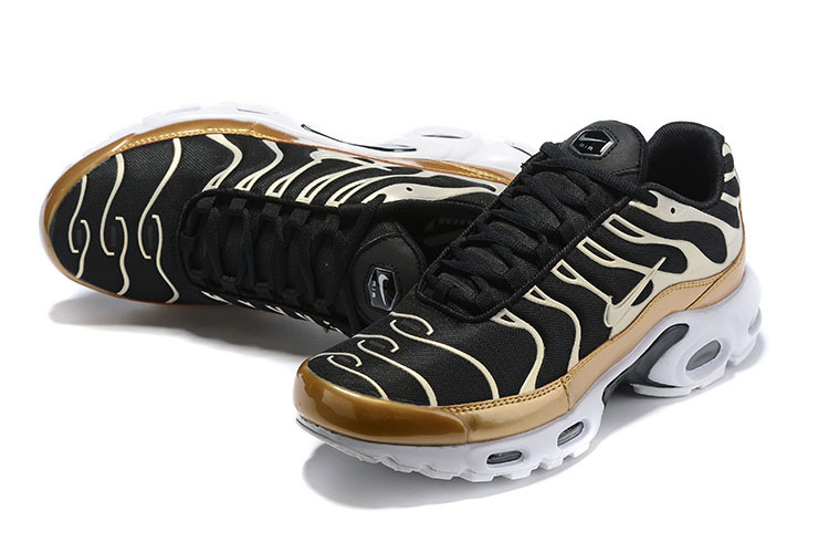 new products 307d3 39f1d Mens Nike Wmns Air Max Plus TN Se Black Gold White Males Running Shoes  NIKE-ST006067