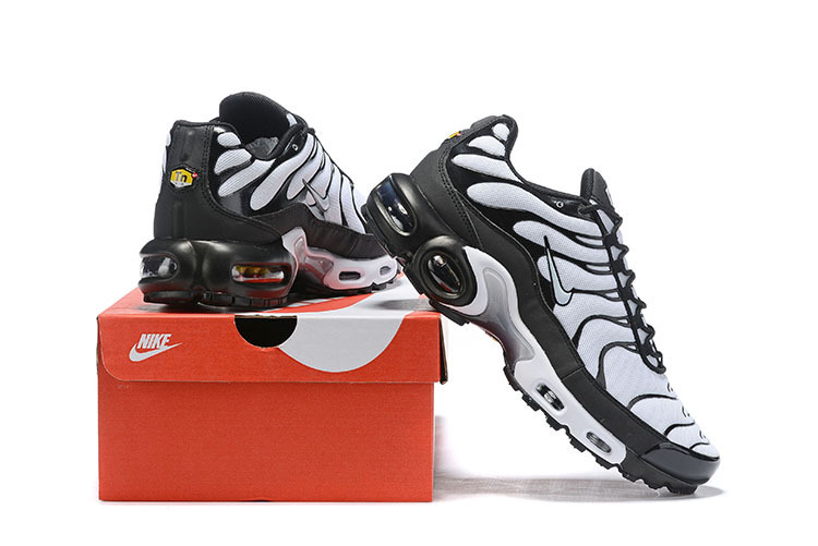 official photos b677e 3f81f Mens Nike Wmns Air Max Plus TN Se Black White Males Running Shoes  NIKE-ST006064