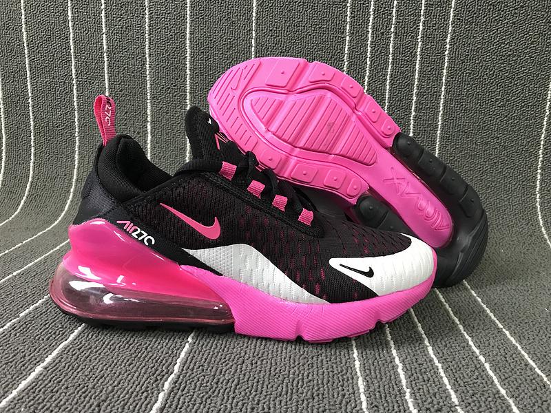 quality design 503ae 1ca54 Nike Air Max 270 Black Vivid Pink White Women's Casual Shoes NIKE-ST006160
