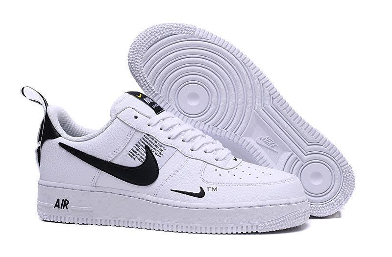 Nike Air Force 1 LV8 Utility White Black AJ7747 100 Women's Men's Sneakers AJ7747 100a