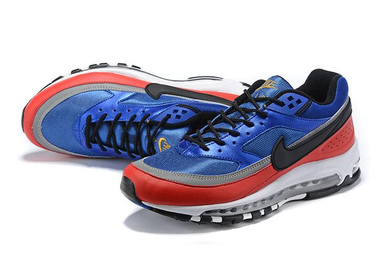 premium selection 31751 b6d9f Nike Air Max 97 BW Deep Royal Blue Black University Red AO2406-400 Men's  Casual Shoes Sneakers AO2406-400