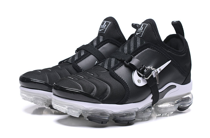 the latest 65908 b521a Nike Air VaporMax Tn Black White Men's Running Shoes NIKE-ST006306