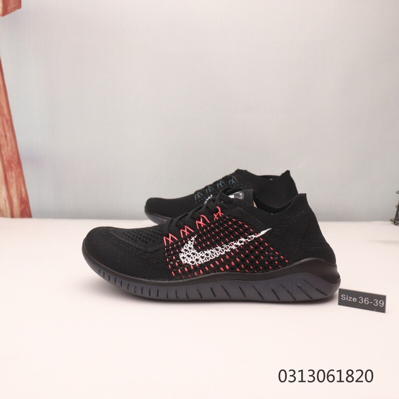 big sale c6e37 8ed19 Nike Free RN Flyknit 5. 0 Black Red White Women's Running Shoes  NIKE-ST006224