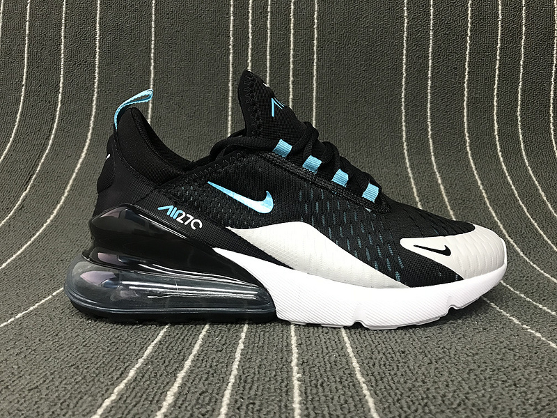 detailed look d4543 77a40 Nike Air Max 270 Black Grey Blue White Men's Casual Shoes NIKE-ST006170