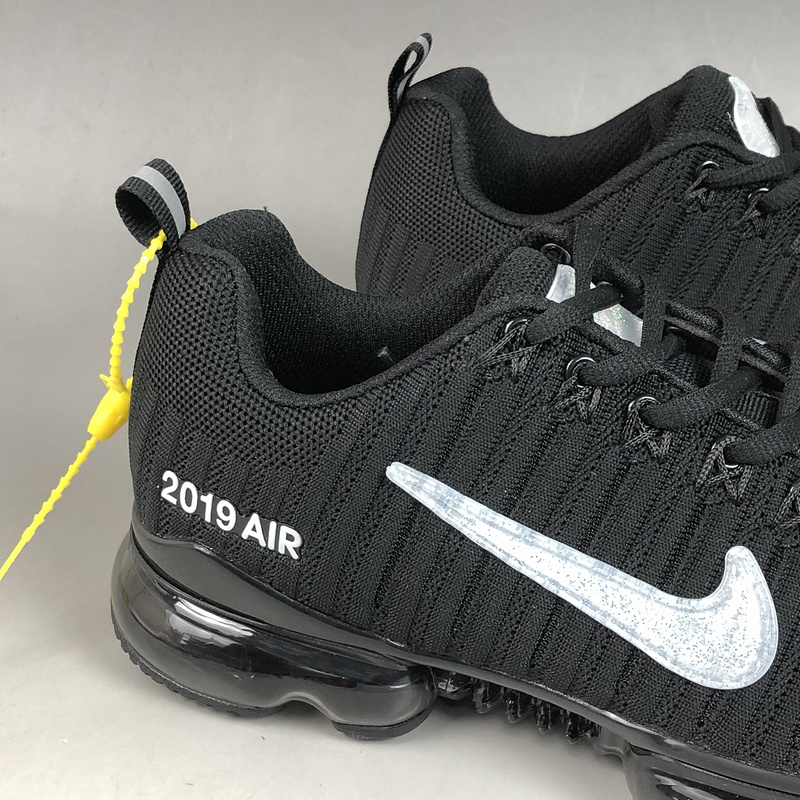low priced d9795 d07f0 Nike Air Max Flyknit 2019 Black White Men's Running Shoes NIKE-ST006107