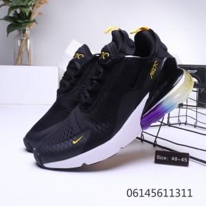 Nike Air Max 270 Betrue Black Blue Spectrum Orange AH8050 025 Trainer Women's Men's Running Shoe