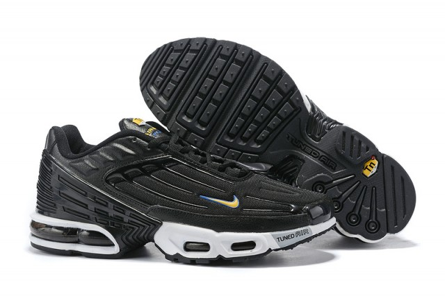 buy popular 25736 49d1e Mens Nike Tuned Air Max Plus Tn Black White Males Running Shoes  NIKE-ST006423