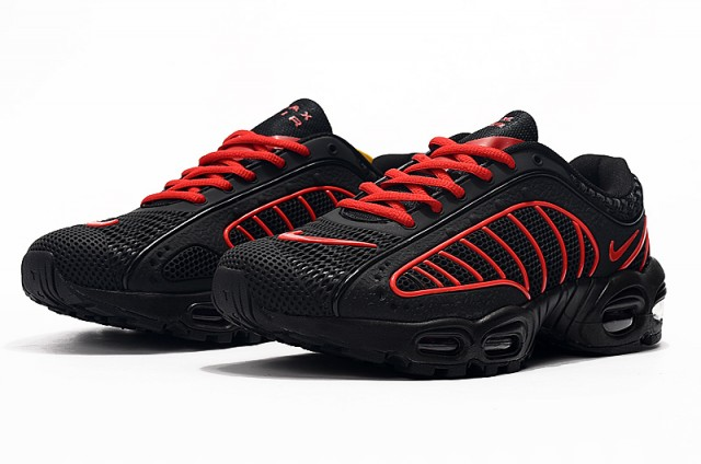 8dcdd6ab55 Mens Nike Air Max TN/Tailwind 4 Black Red Males Running Shoes NIKE ...