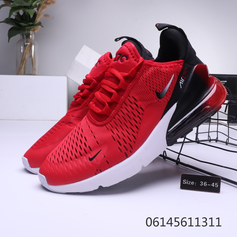 timeless design 5cbb2 972f0 Nike Air Max 270 Red Black White Mens Womens Casual Shoes NIKE-ST006436