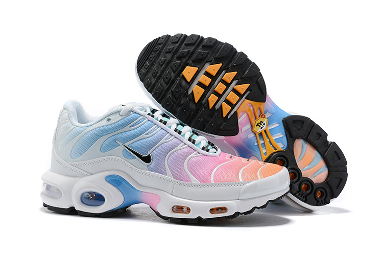 quality design f8afd 876c9 Womens Nike Air Max Plus TN White Black Multi-Color 605112 115 Running  Shoes 605112-115