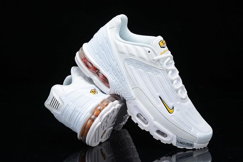 1a317763ac Mens Nike Tuned Air Max Plus Tn Triple White Males Running Shoes ...