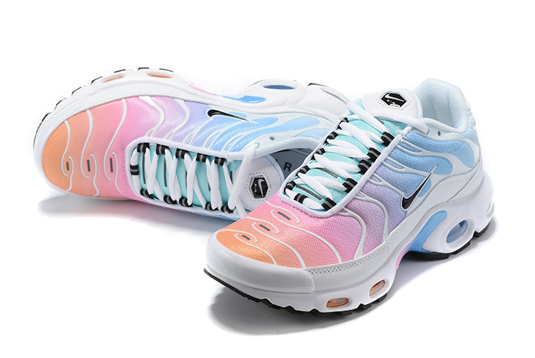 quality design 480d8 69136 Womens Nike Air Max Plus TN White Black Multi-Color 605112 115 Running  Shoes 605112-115