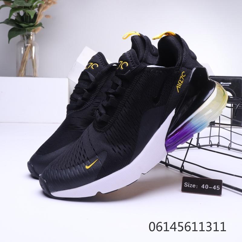 wholesale dealer e7e15 c358d Nike Air Max 270 White Purple Black Mens Casual Shoes NIKE-ST006437