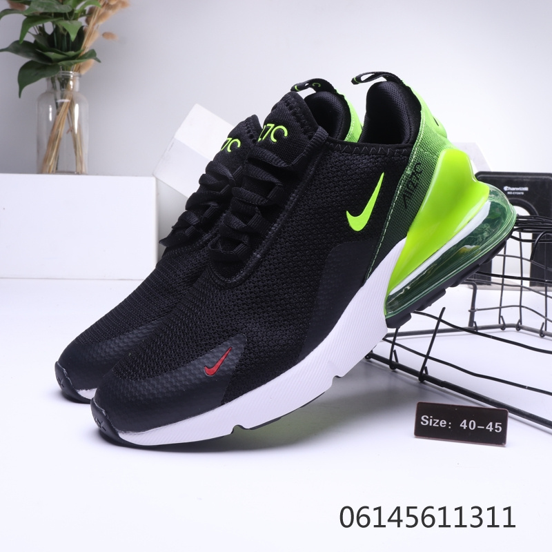 timeless design ce94c 2eb11 Nike Air Max 270 Green White Black Mens Casual Shoes NIKE-ST006435