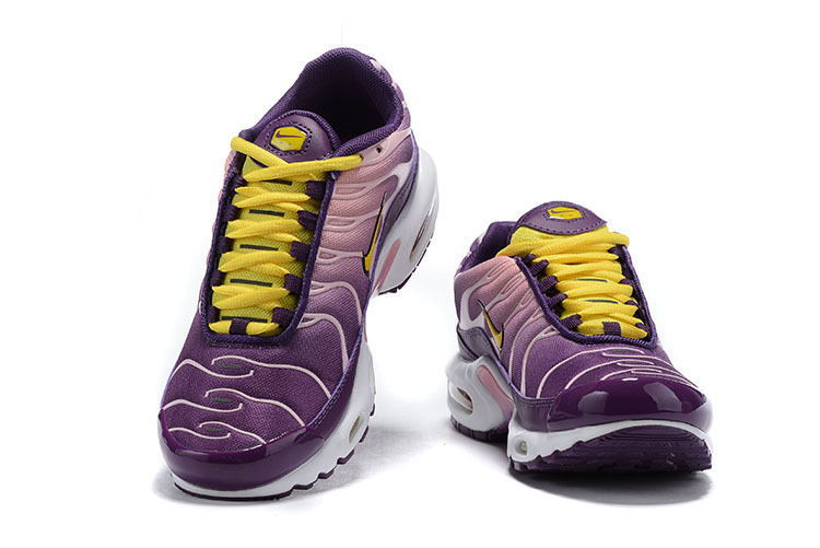 huge selection of 973d9 81e17 Womens Nike Air Max Plus TN Purple White Yellow BV7962 600 Running Shoes  BV7962-600