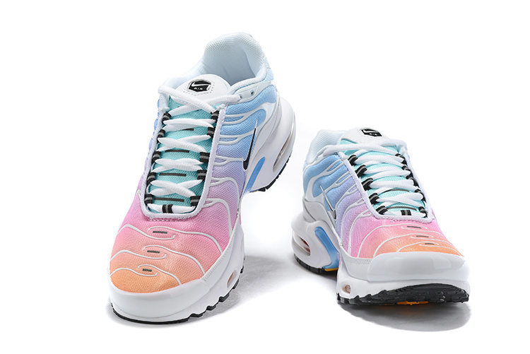 quality design 474c1 5e4c9 Womens Nike Air Max Plus TN White Black Multi-Color 605112 115 Running  Shoes 605112-115