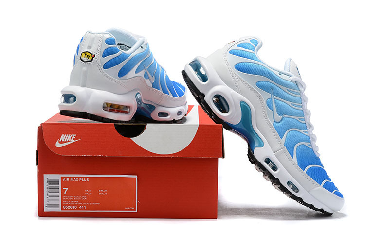 first rate fea0c 06a4e Mens Nike Air Max Plus TN Sky Blue Light Blue White 852630 411 Males  Running Shoes 852630-411