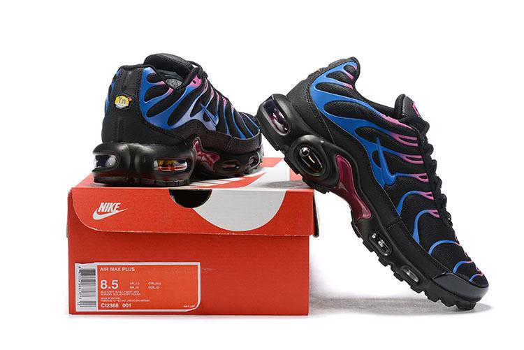 new products 00670 b2495 Womens Nike Air Max Plus TN Miami Vice Black Blue Fuchsia Pink CI2368 001  Running Shoes CI2368-001