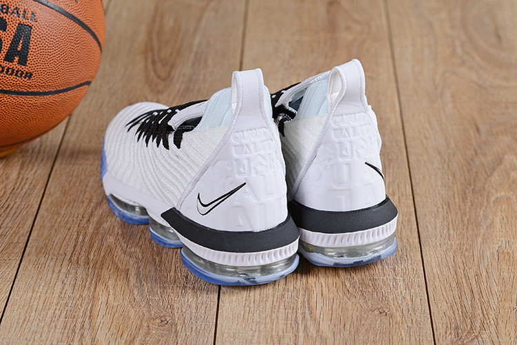 meet 8b534 316ce Nike LeBron 16 Men's Basketball Shoes Equality Home White Black BQ5969 101  BQ5969-101