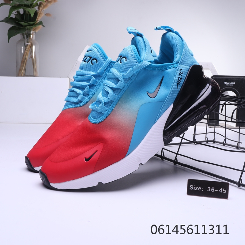 competitive price 03d79 09b56 Nike Air Max 270 Blue Red Black Mens Womens Casual Shoes NIKE-ST006434