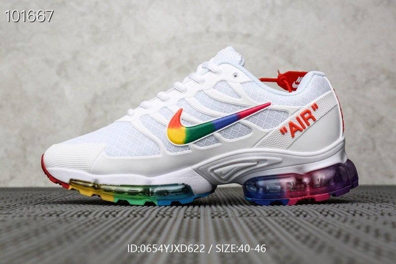 Mens Nike Air Max Plus TN White Multicolor Males Running Shoes NIKE ST006492