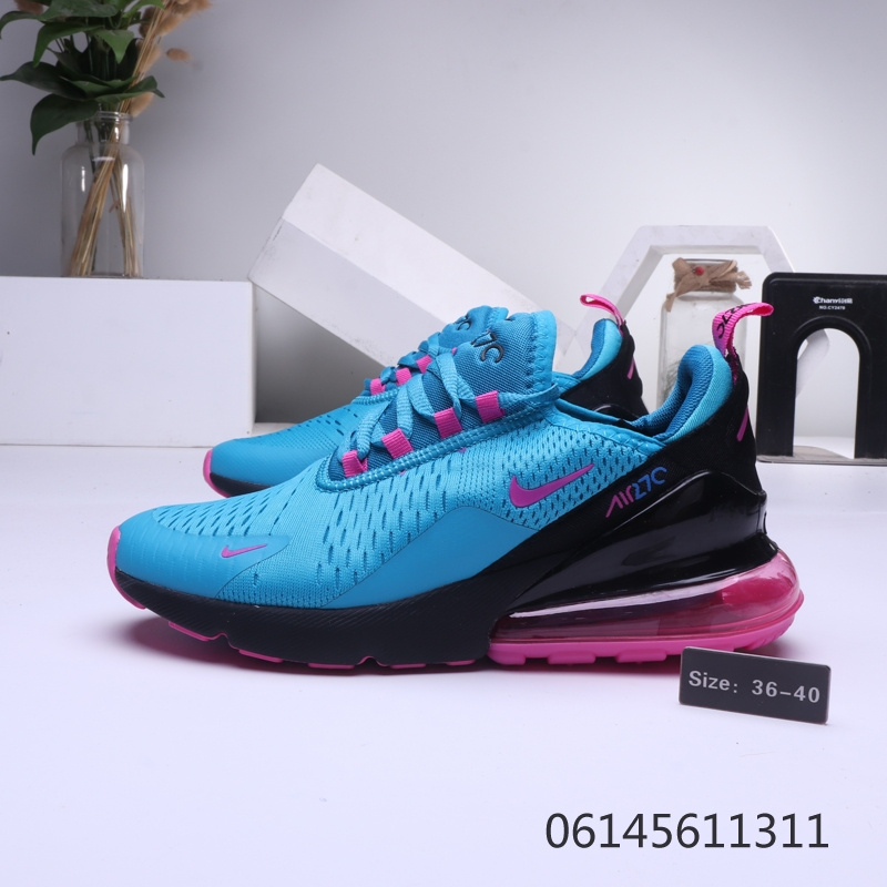 best authentic 24103 96c99 Nike Air Max 270 Blue Purple Black Womens Casual Shoes NIKE-ST006433