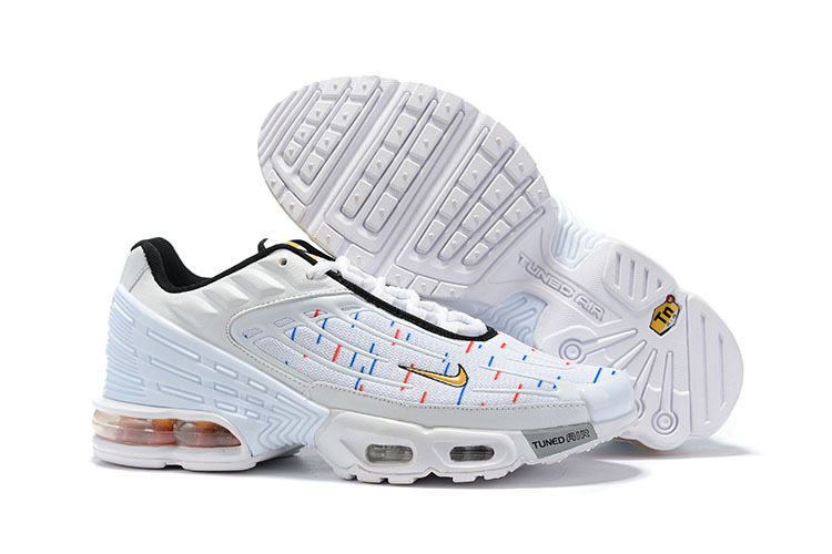 Mens Nike Tuned Air Max Plus Tn White Black Spectrum Males Running Shoes NIKE ST006428