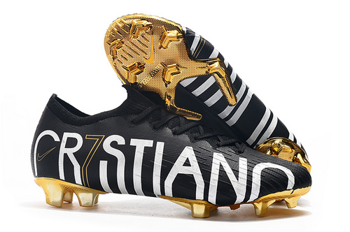 new arrival 3afba 23e83 NIKE Mercurial Vapor Fury VII Elite CR7 SE FG Black/Gold Men's Soccer Cleat  Shoes NIKE-ST006729