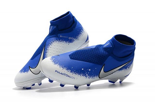 7d90e9d6e5ded NIke Phantom VSN Elite DF FG Royal Blue White Men's Soccer Cleat Shoes
