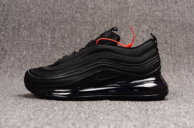 Nike Air Max 97 720 Tpu Triple Black Mens Running Shoes NIKE ST006653