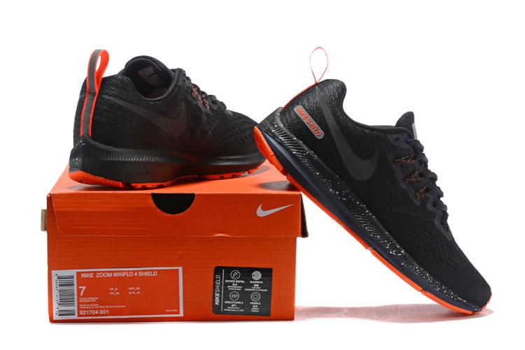 big sale 851f3 54634 Nike Zoom Winflo 4 Black Charcoal Gray Orange 921704 001 Men's Casual Shoes  Sneakers NIKE-ST006799