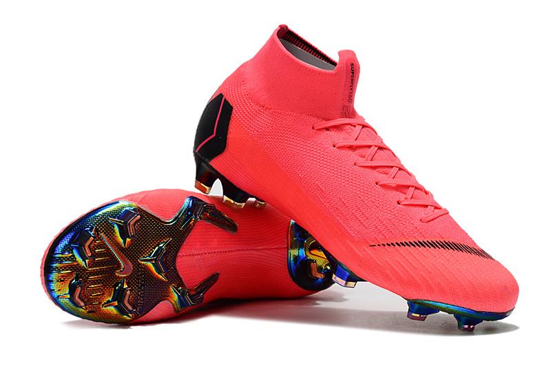 sports shoes ff1d5 f25b8 NIKE Mercurial Superfly VI 360 Elite FG Pink Black Men's Soccer Cleat Shoes  NIKE-ST006739