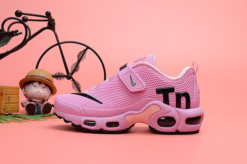 the latest e90e8 e77de Nike Air Max Plus Tn KPU Hyper Pink Black White Kids Running Shoes  NIKE-ST006710