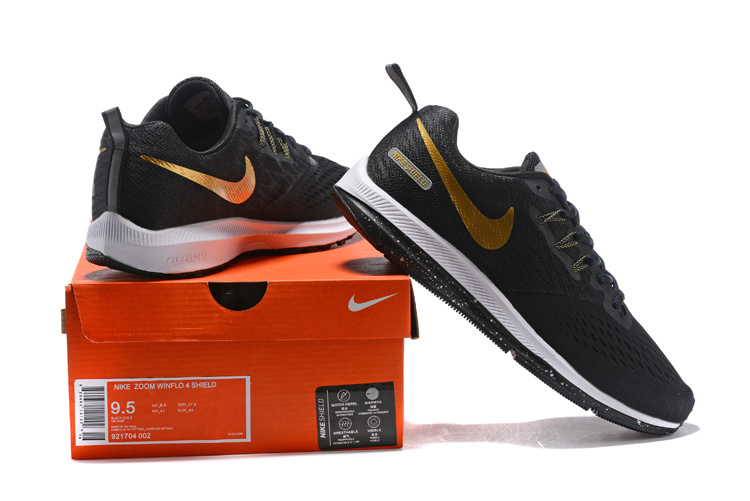 sneakers for cheap 3054a d58bc Nike Zoom Winflo 4 Black Gold White 921704 002 Men's Casual Shoes Sneakers  NIKE-ST006798