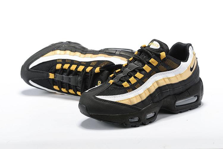 US Nike Air Max 95 Kids Shoes White Neon Yellow black