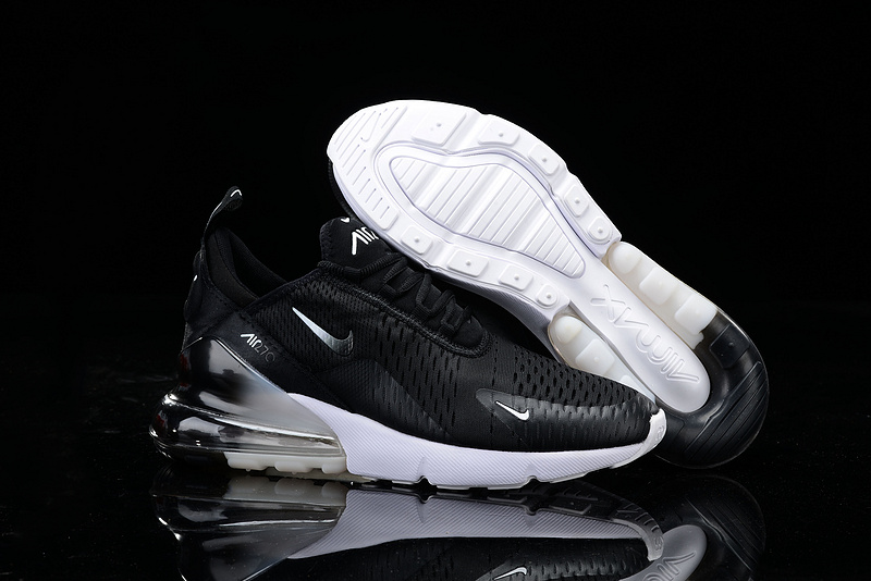 huge discount 490e0 8631a Nike Air Max 270 Black Multi-Color White Mens Casual Shoes NIKE-ST006818