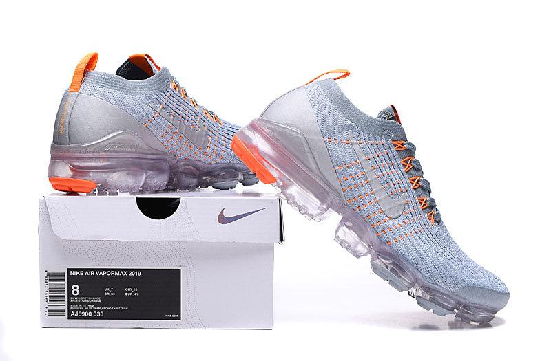 premium selection 77ce2 72d5c Nike Air VaporMax 3. 0 Aviator Grey Orange AJ6900-003 Women's Men's Running  Shoes AJ6900-003