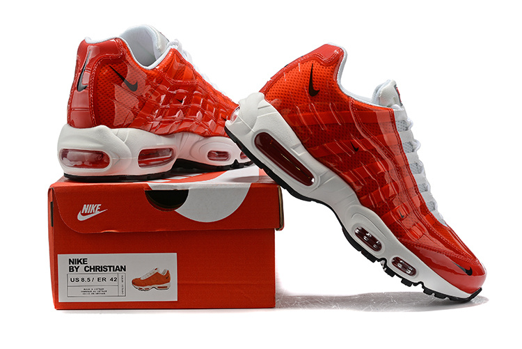 separation shoes f6b92 9c33a Nike Air Max 95 BY Christian October Red White Black Women's Men's Casual  Shoes NIKE-ST006782