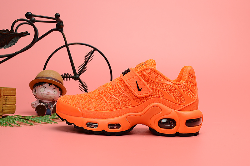 watch 3322e 66c0d Nike Air Max Plus Tn KPU Orange Black Kids Running Shoes NIKE-ST006699