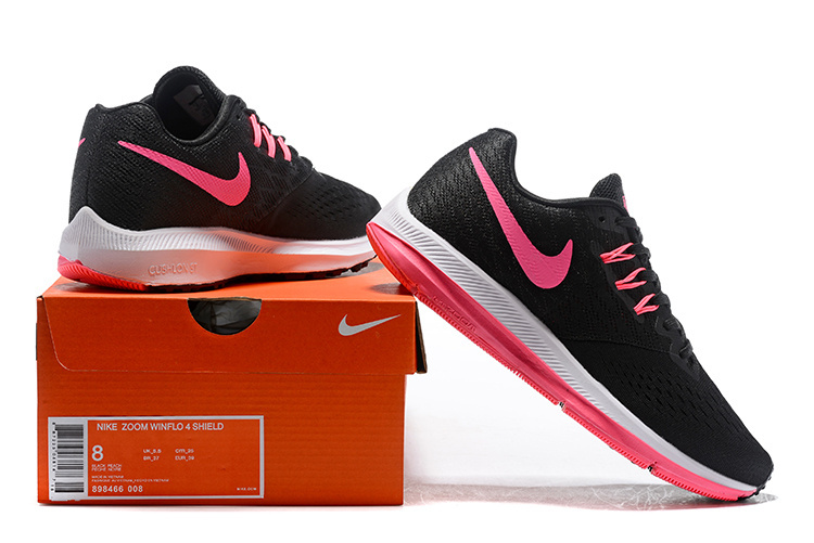 official photos 046a8 76906 Nike Zoom Winflo 4 Black Pink White 898466 008 Women's Casual Shoes  Sneakers NIKE-ST006802