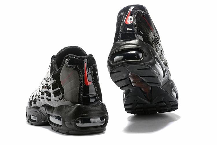 buy popular 5682f 4bfa2 Nike Air Max 95 BY Christian Triple Black Red Men's Casual Shoes  NIKE-ST006781