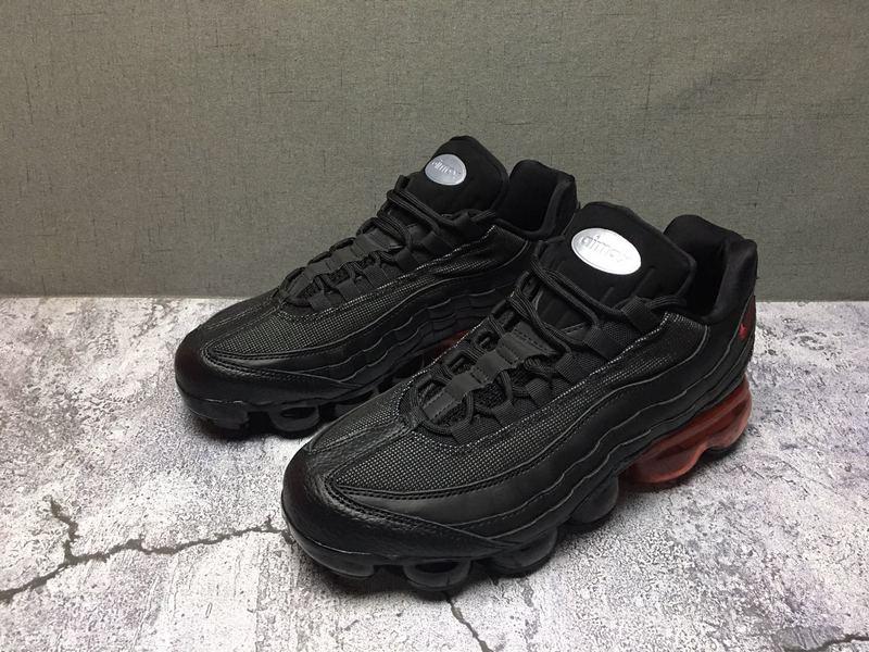 new concept b9f7c 2fd9e Nike Air Max 95 TT Black Red Men's Casual Shoes NIKE-ST006687