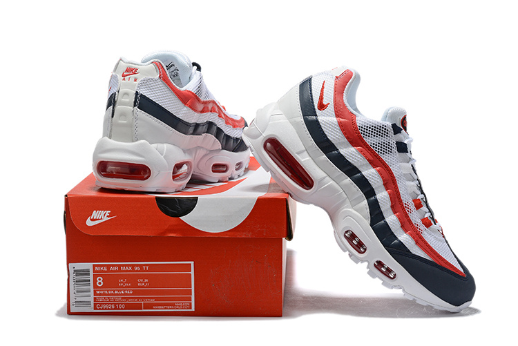 the best attitude dab91 5f944 Nike Air Max 95 USA White Gym Red Royal Blue CJ9926-100 Men's Casual Shoes  NIKE-ST006803