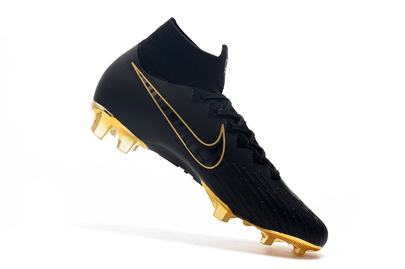 best cheap 78ed6 659d7 NIKE Mercurial Vapor Fury VII Elite CR7 SE FG Black/Gold Men's Soccer Cleat  Shoes NIKE-ST006730
