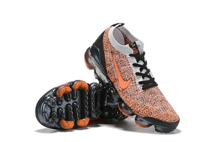 the latest 5949e 77fe9 Nike Air VaporMax Flyknit 2019 Orange Black Grey Women's Men's Running  Shoes NIKE-ST006642