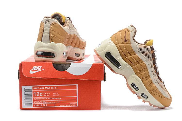 reputable site c9c6a 14a93 Nike Air Max 95 Premium Wheat bronze/baroque brown-bamboo 538416 700 Kids  Running Shoes 538416-700