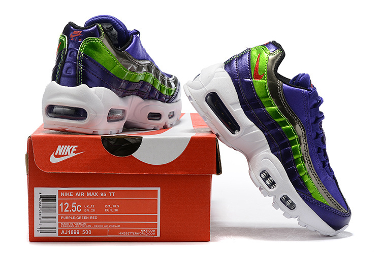 innovative design 324ee f2e0a Nike AIR MAX 95 SE Purple Rush Pink AJ1899-600 Kids Running Shoes AJ1899-600