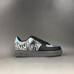 Nike Air Force 1'07 LV8 Utility Black White Shoes Wmns NIKE