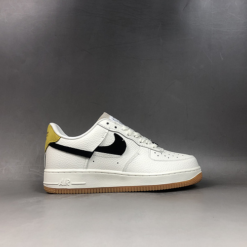 sale retailer d8746 5080f Nike Air Force 1 Low White Black Yellow BV0740-101 Running Shoes Wmns  BV0740-101