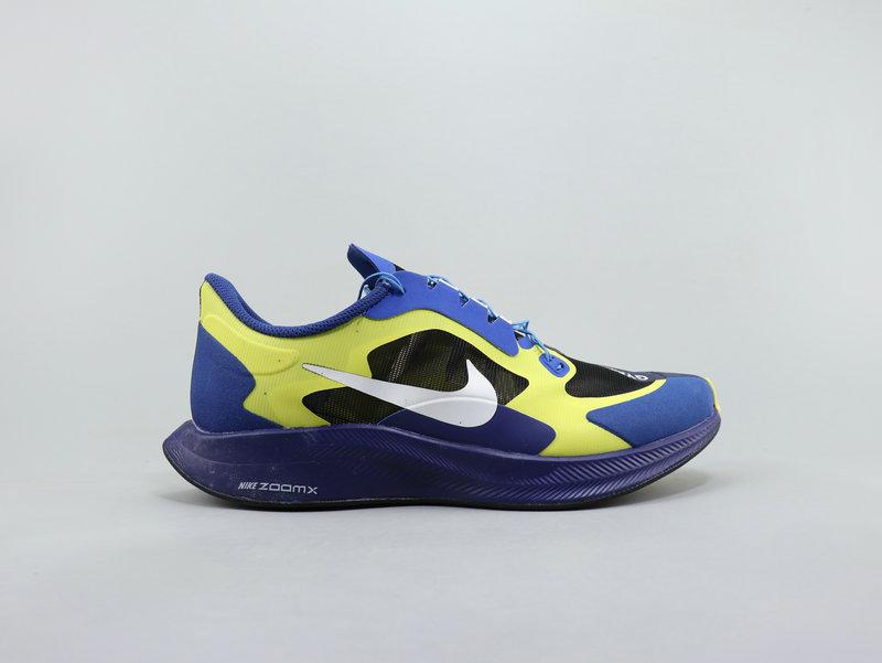 the latest bf9cf 9f9cf Nike Men's Zoom Pegasus 35 Turbo Blue Yellow Running Shoes NIKE-ST007003